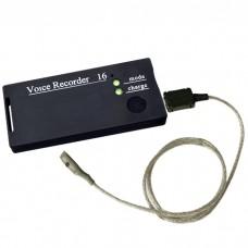 """Micro-grabadora """"Soroka-16″con micr. externo de hasta 1120 horas de grabación."""