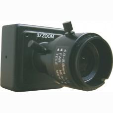 Cámara color miniatura 700 líneas lente varifocal