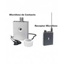 Kit Micrófono Contacto con Receptor Micrófono.