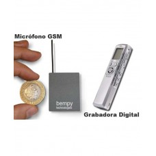 Kit Micrófono GSM Pro con Grabadora Digital Pro