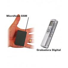 Kit Micrófono GSM con Grabadora Digital Pro