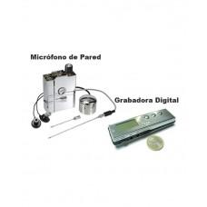 Kit Micrófono de Pared con Grabadora Digital